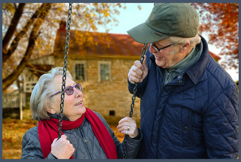 Guardianship, Old lady with Man